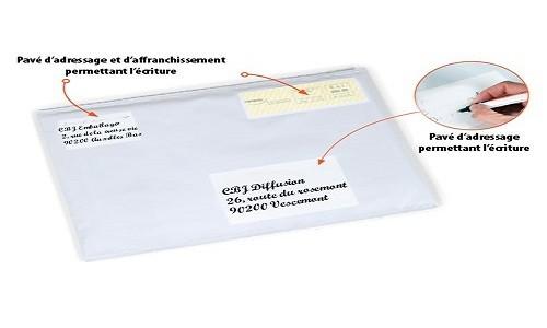 Enveloppe plastique noir opaque